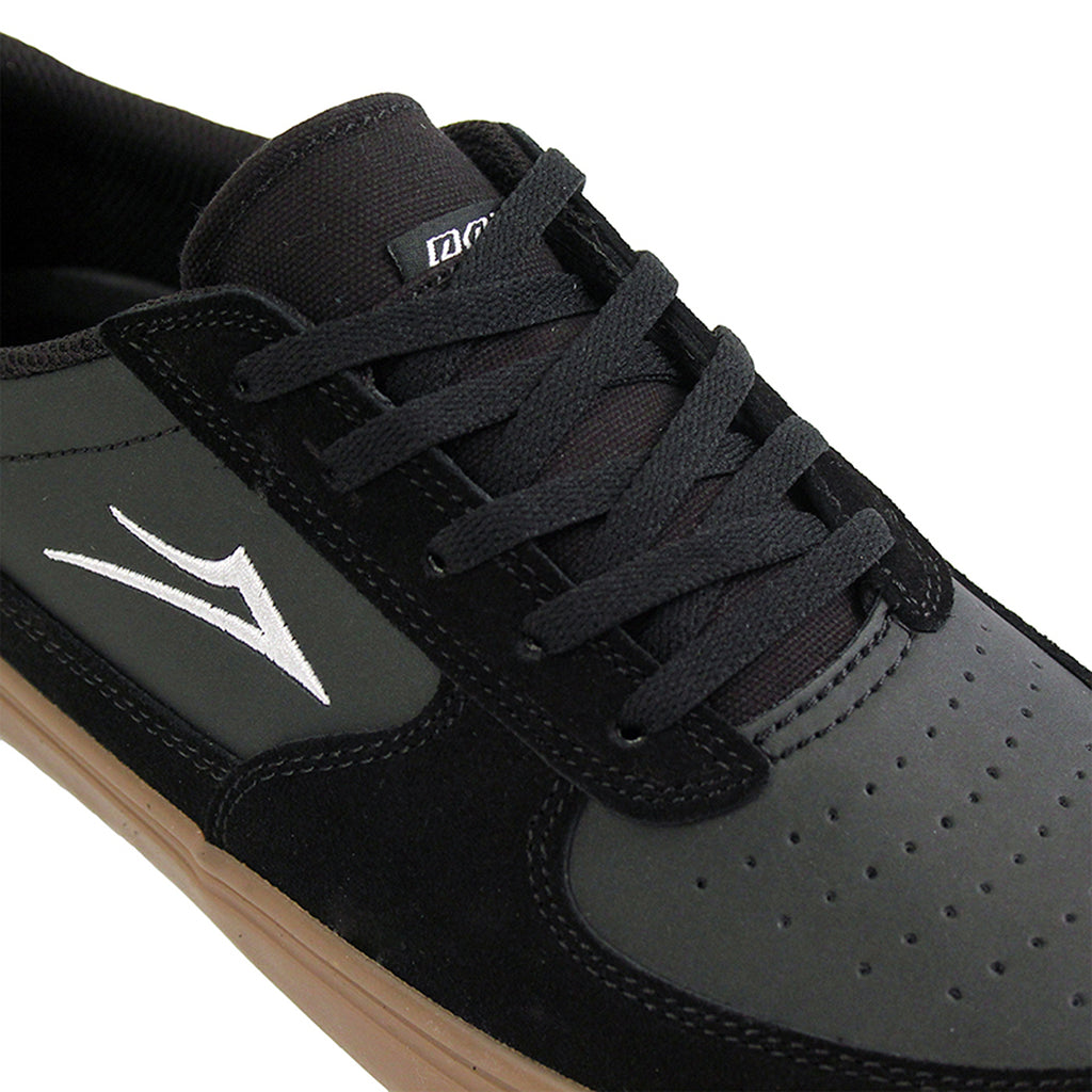 Lakai Parker Shoe in Black/Gum - Detail