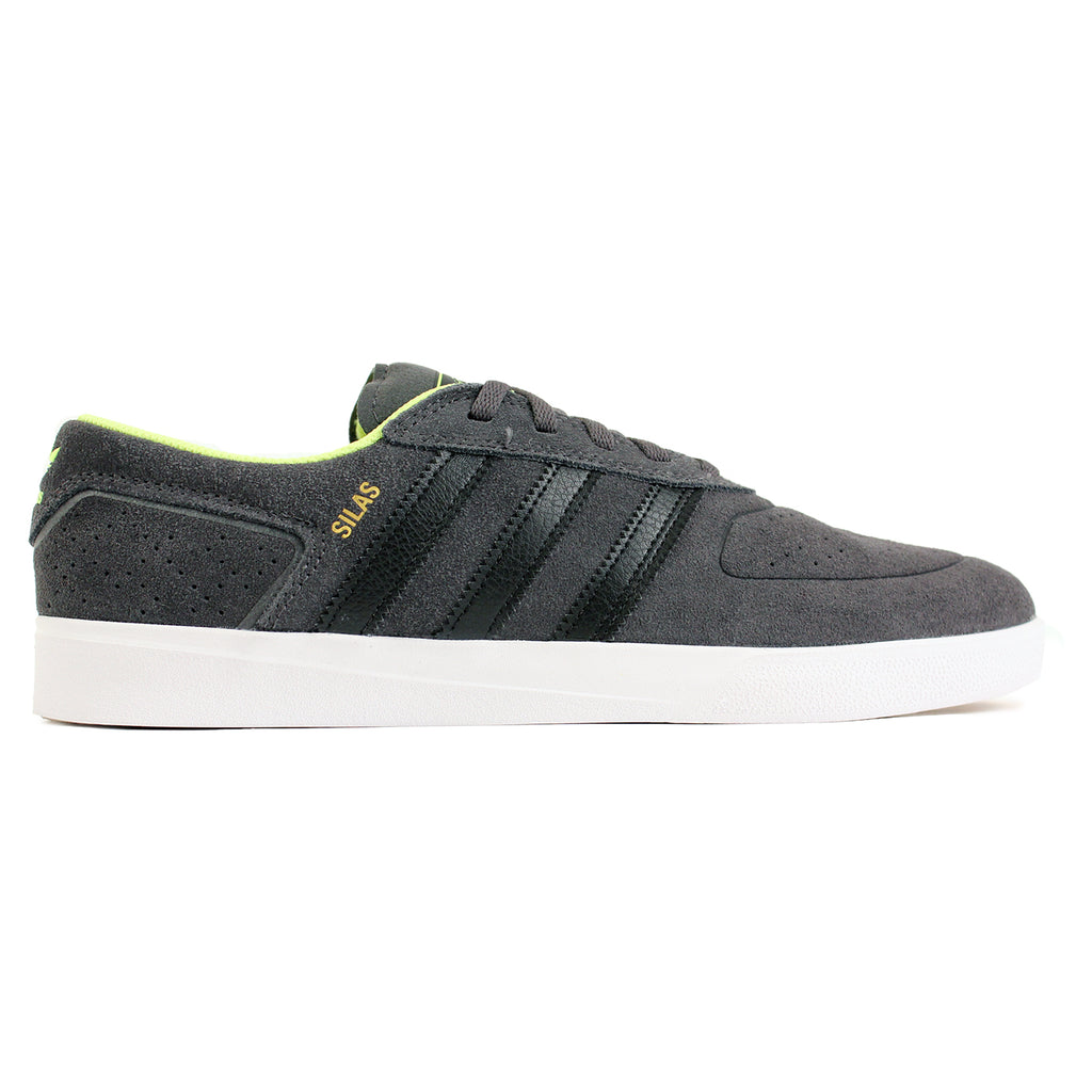 Adidas Skateboarding Silas ADV Shoes in Solid Grey/Black/Solar Yellow