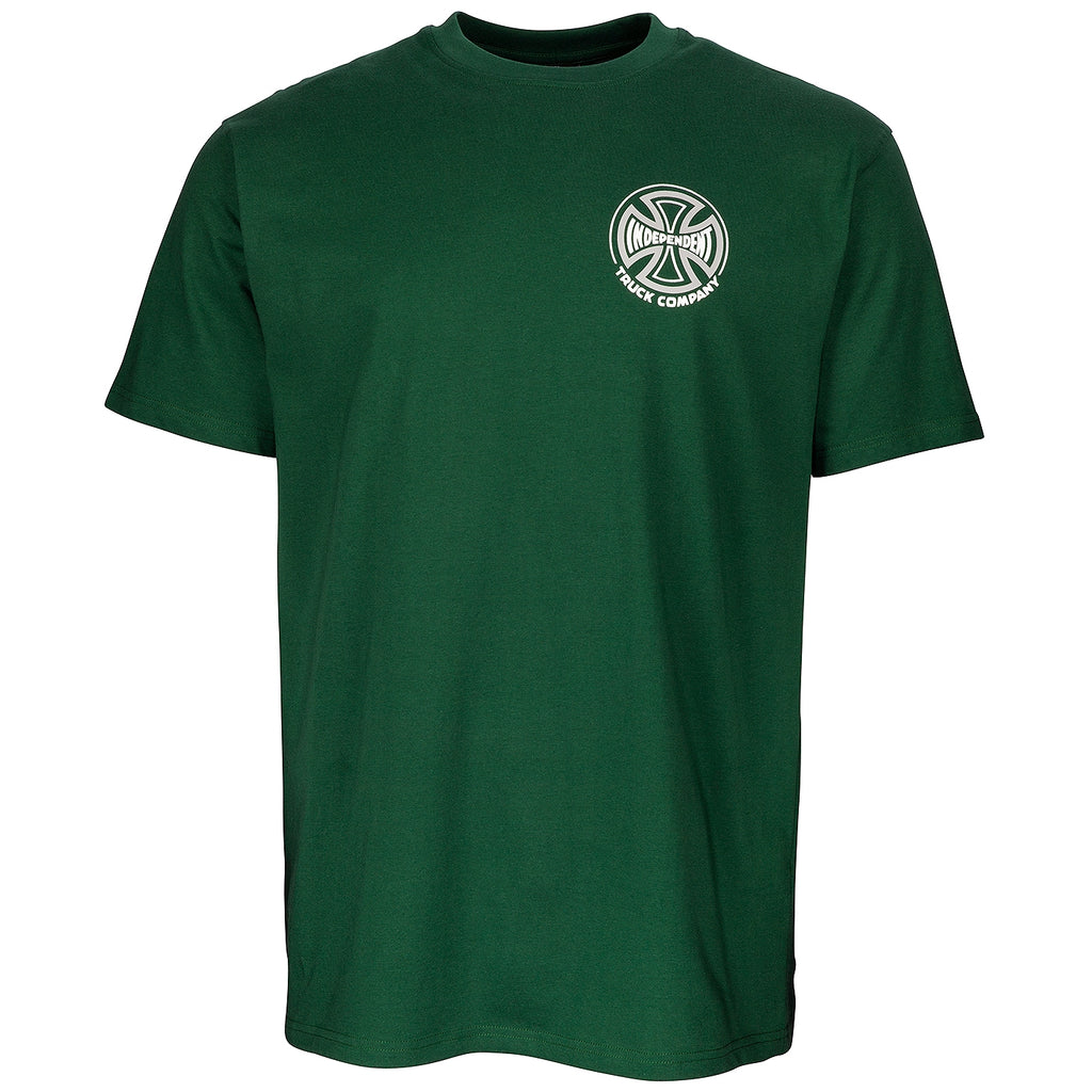 Independent Trucks Two Tone T Shirt in Forest Green