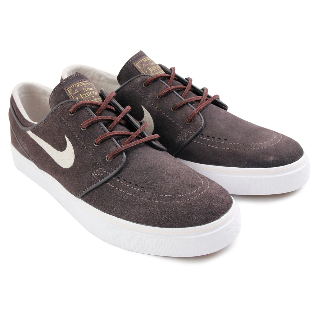 Nike SB Stefan Janoski OG Shoes in Cappuccino / Snowdrift - White - Metallic Gold - Pair