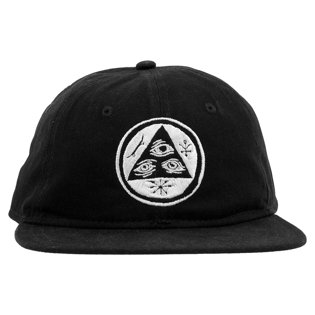 Welcome Skateboards Talisman Unstructured Snapback Cap in Black - Detail