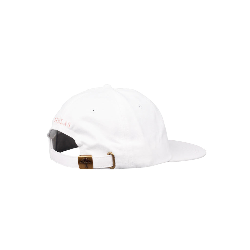 Helas Classic 6 Panel Cap in White / Pink - Side