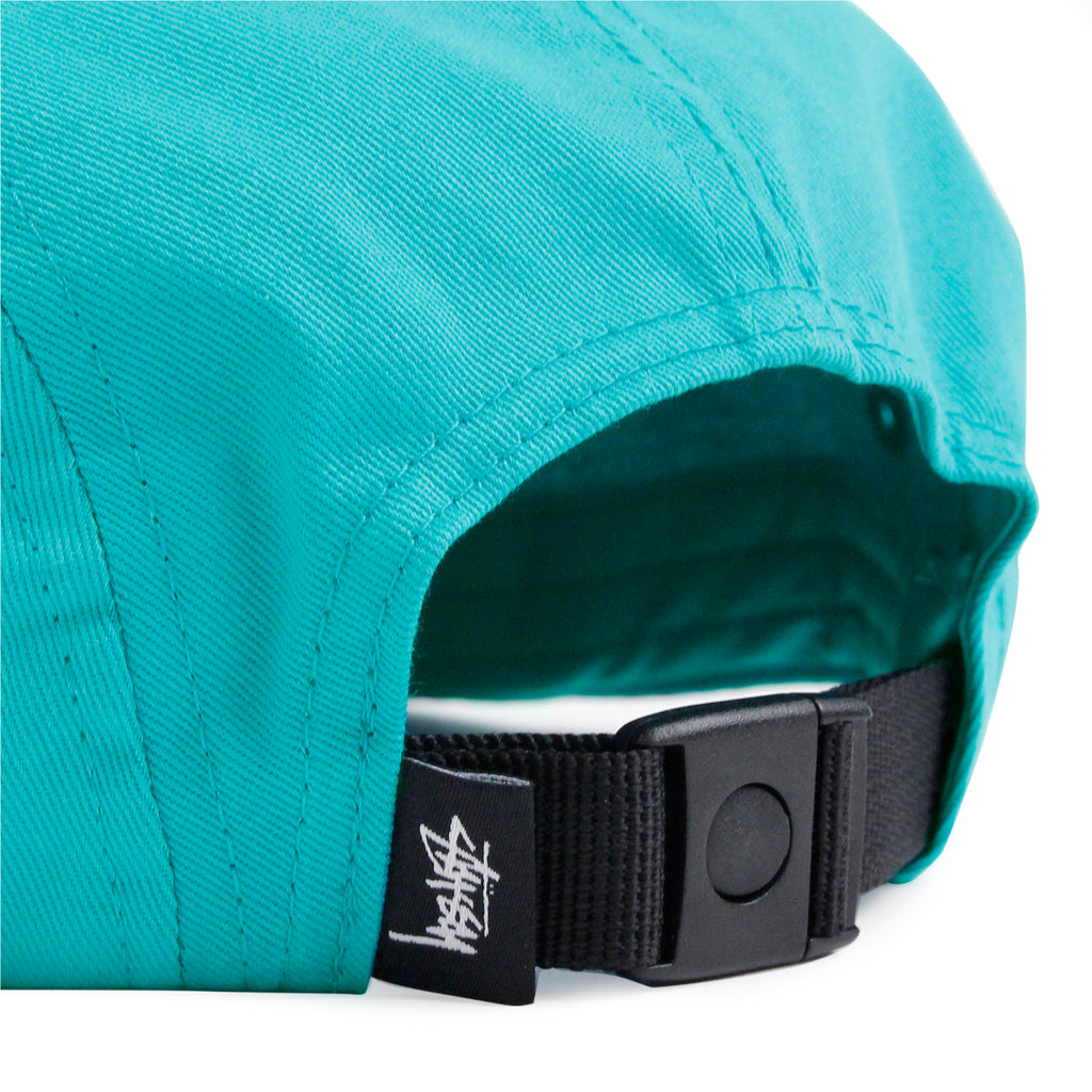 Stussy Stock 5 Panel Cap in Teal - Strap