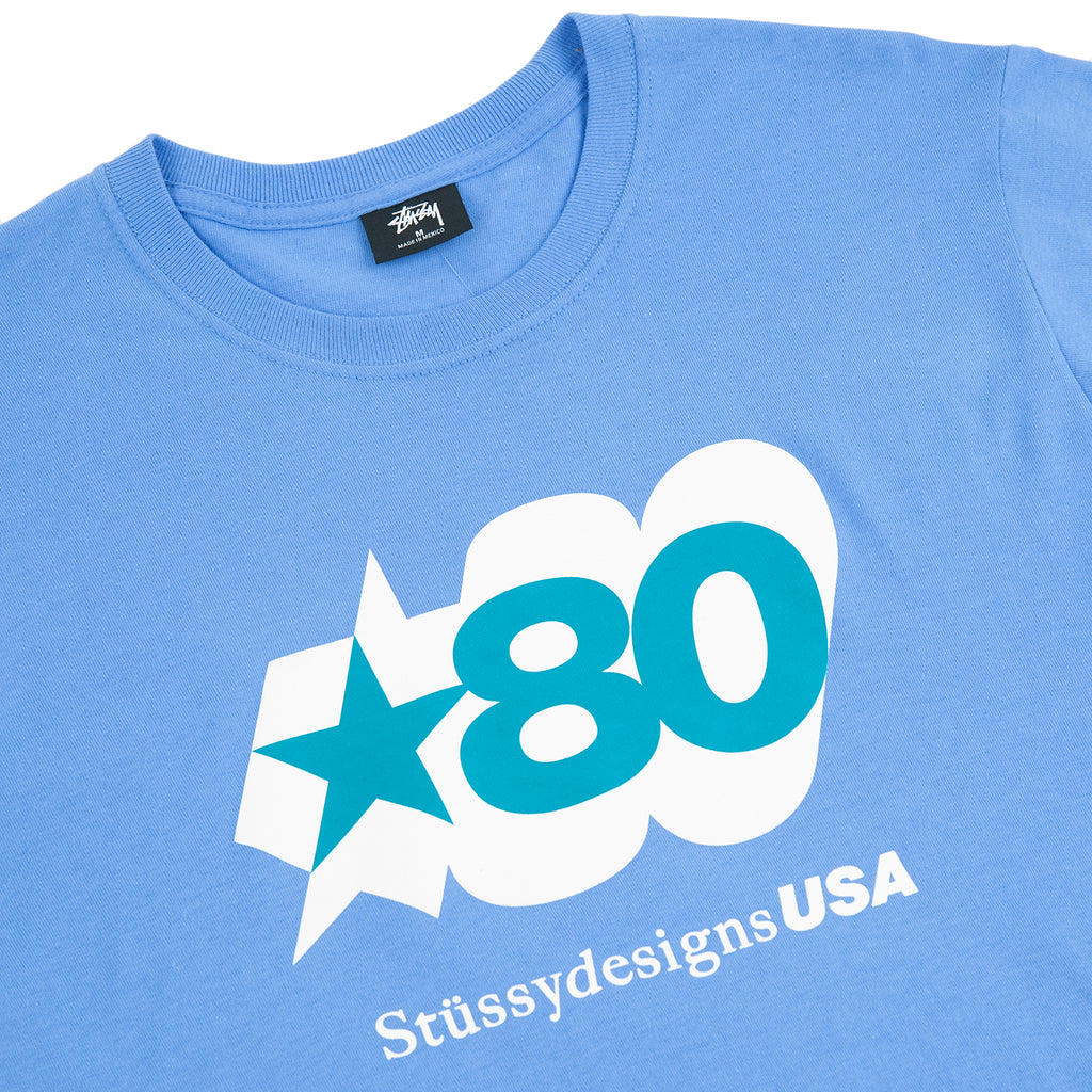 Stussy 80 Star T Shirt in Blue - Detail