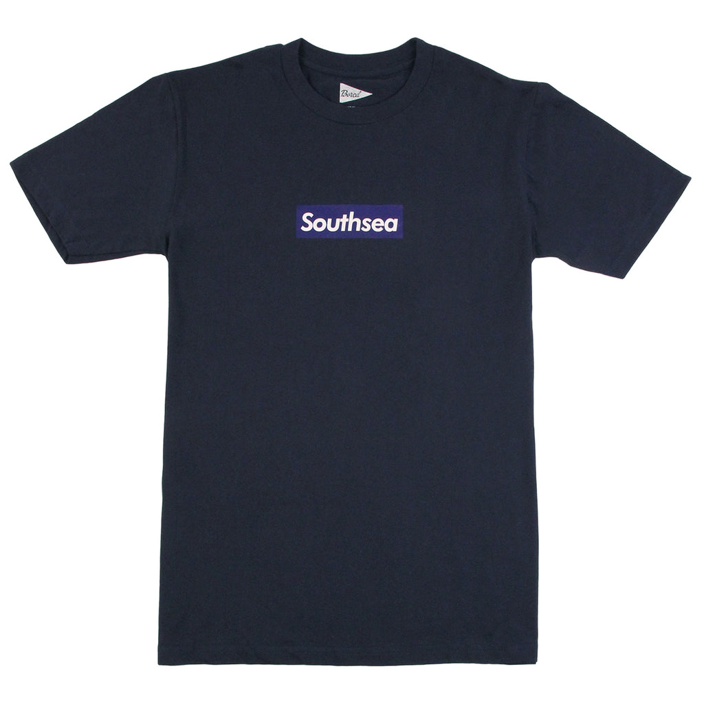 "Bored of Southsea ""Southsea"" T Shirt in Navy / Blue Box"
