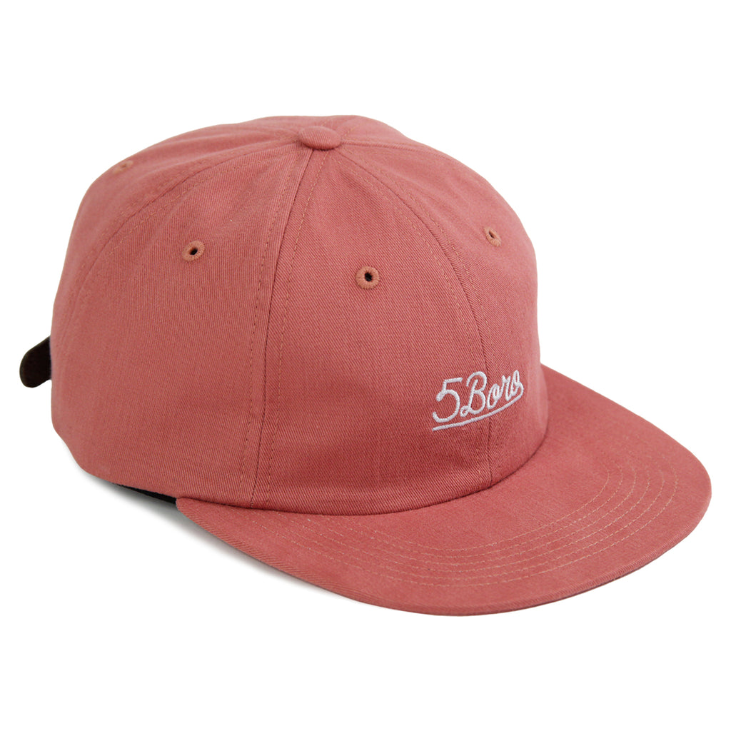 5Boro 5B Script Six Panel Cap in Salmon