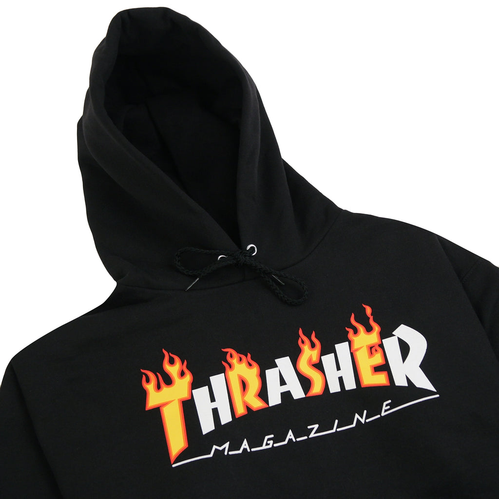 Thrasher Flame Mag Hoodie in Black - Detail