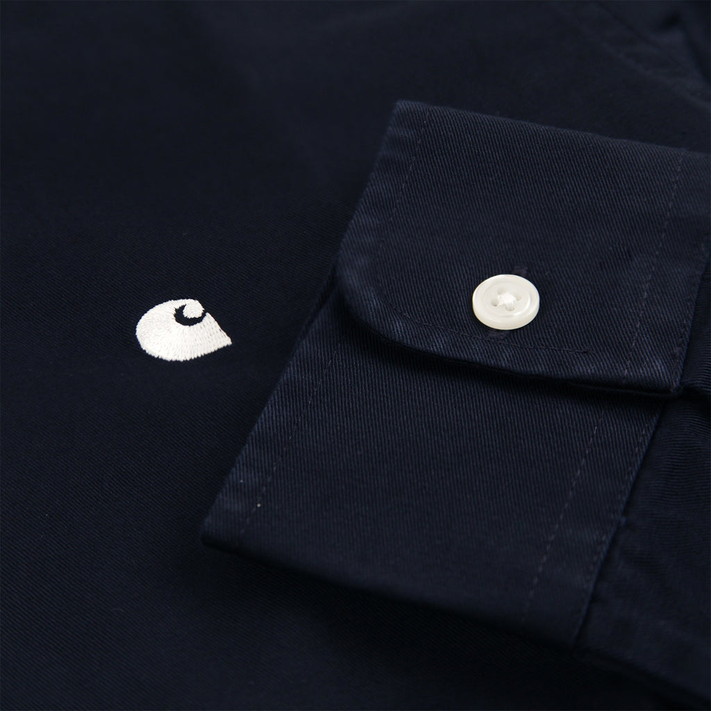 Carhartt L/S Madison Shirt in Dark Navy / Wax - Logo