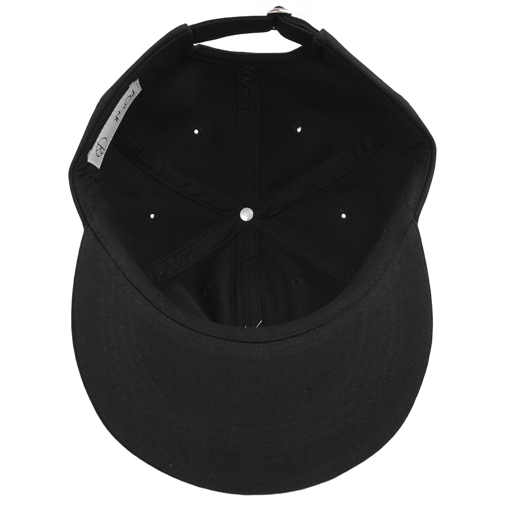 Polar Skate Co Canvas Cap in Black - Inside