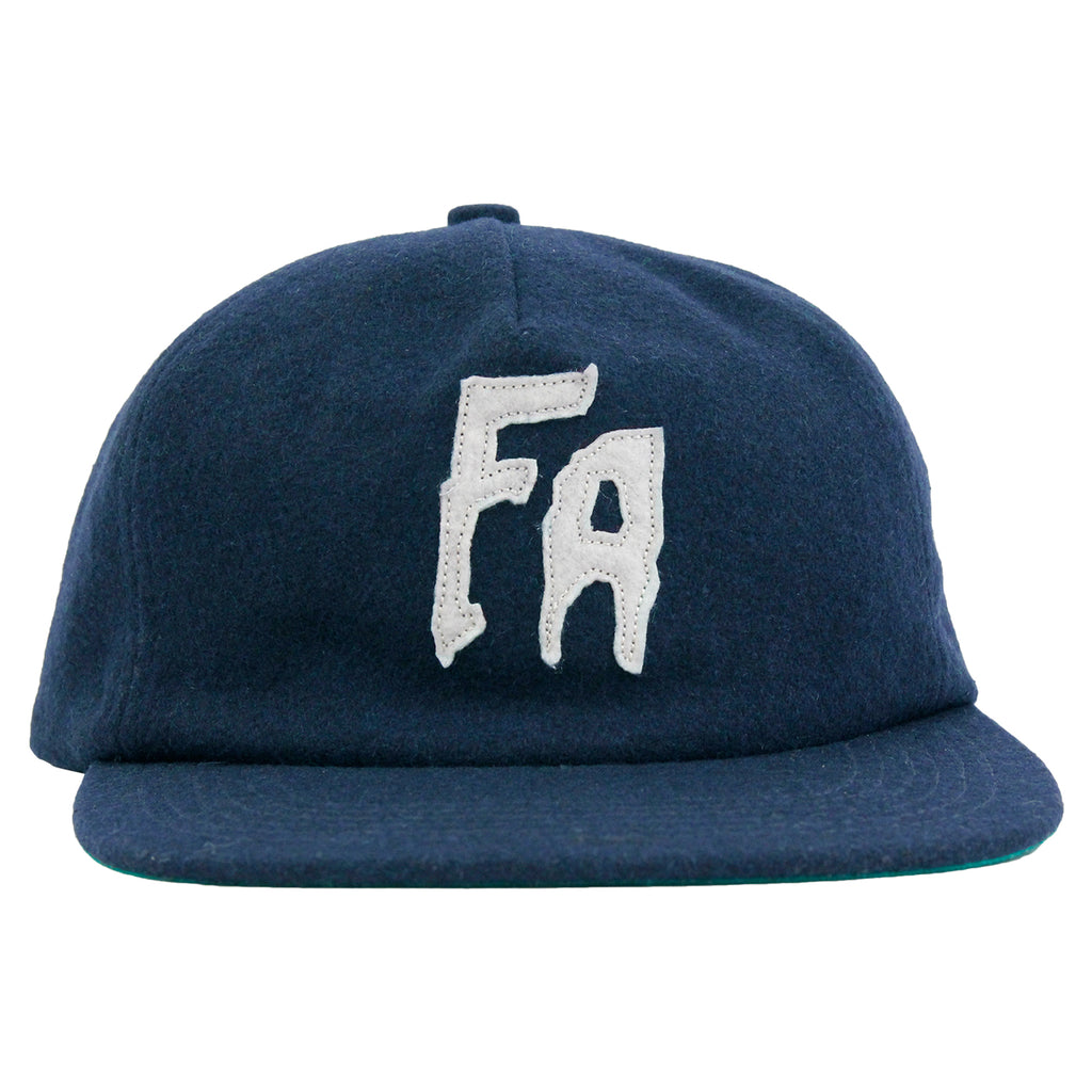 Fucking Awesome Classic FA Logo Wool Snapback Cap in Navy - Front