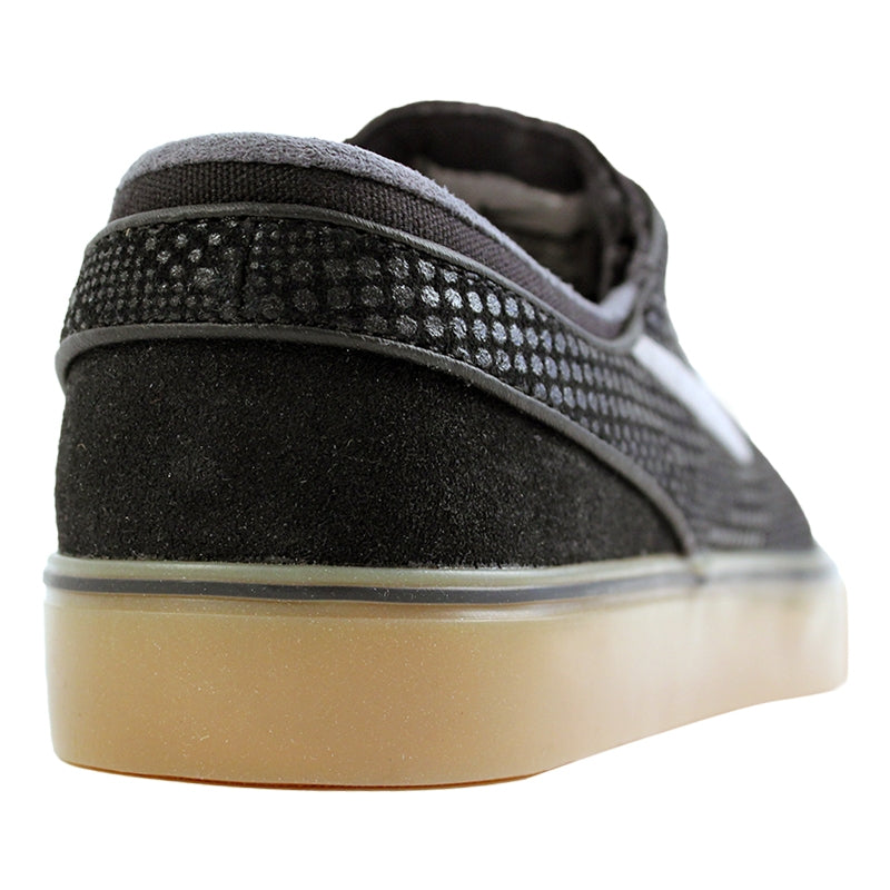 Nike SB Stefan Janoski PR SE Shoes in Black / Medium Gum / Light Brown - Heel