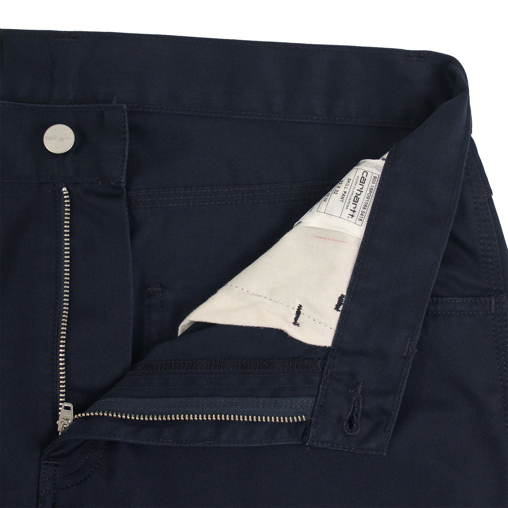 Carhartt Skill Pant in Dark Navy - Zipper