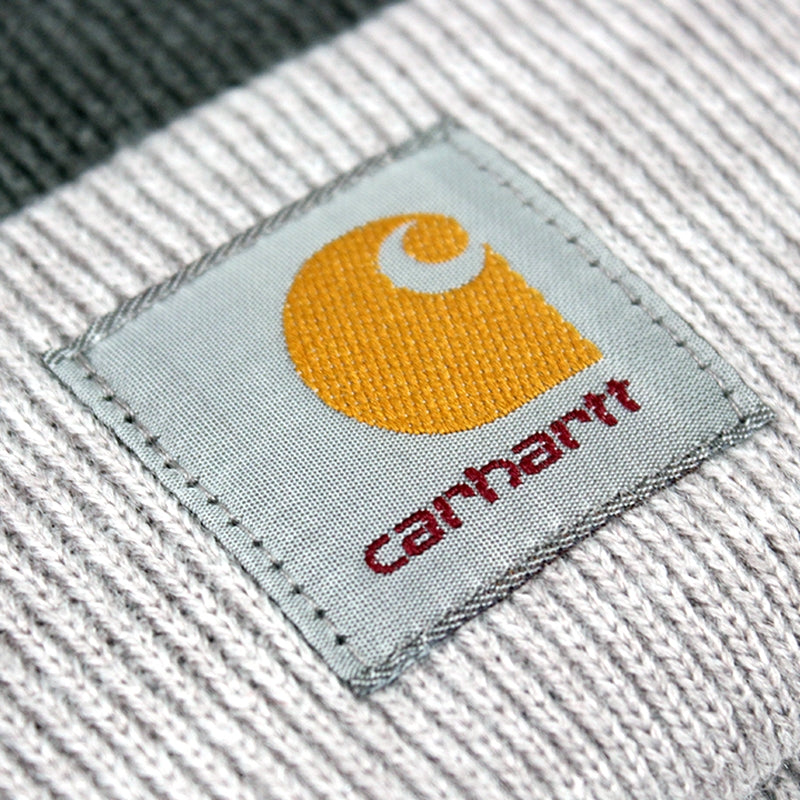 Carhartt Britt Beanie in Dark Grey Heather / Grey Heather - Label