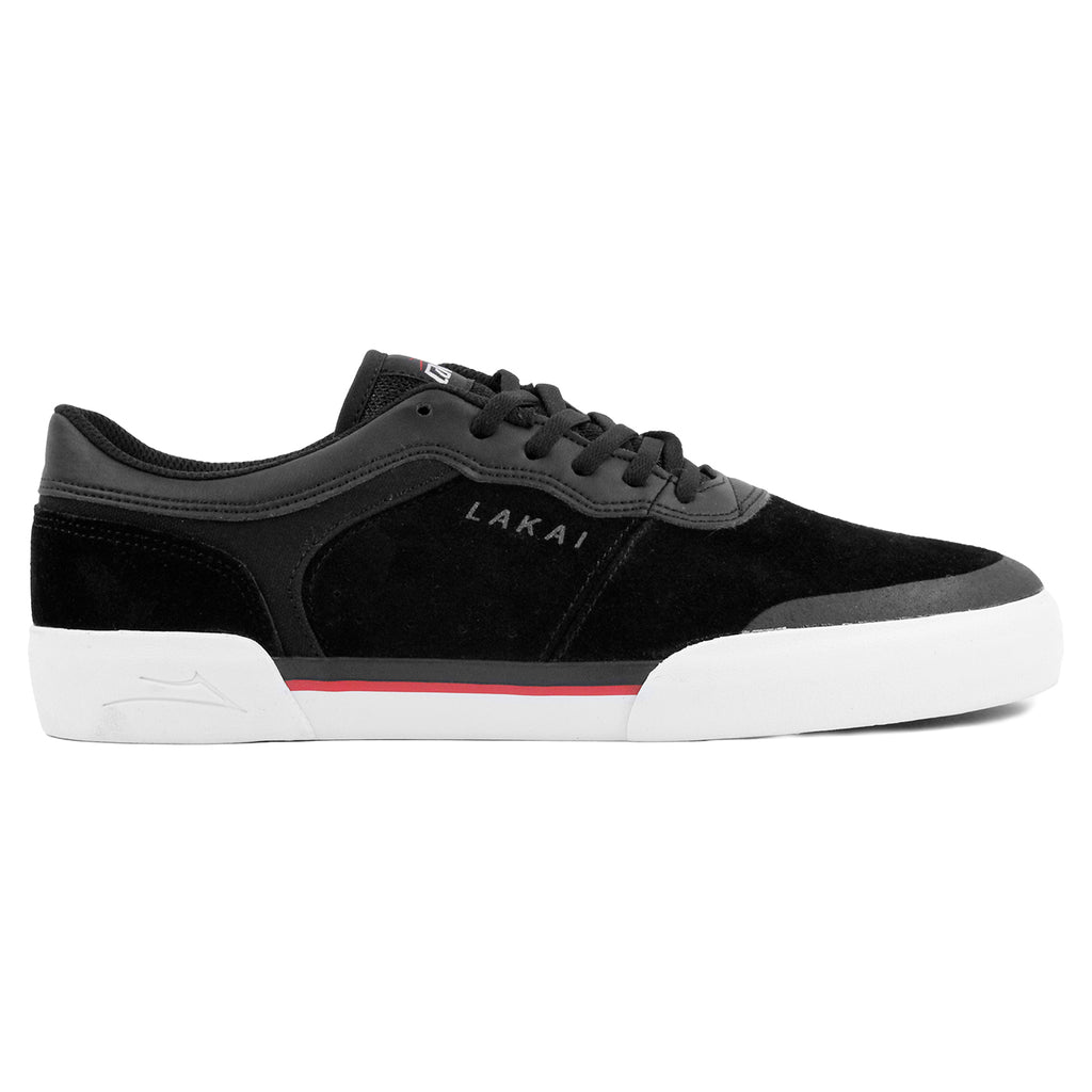 Lakai Staple Shoes in Black Suede