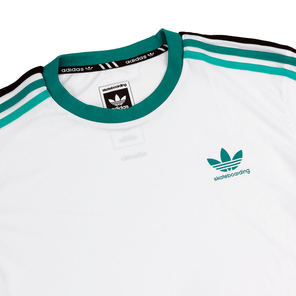 Adidas Skateboarding Clima Club Jersey in White - Detail