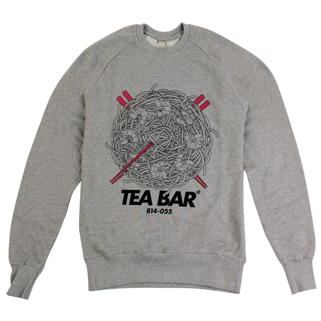 Bored of Southsea Tea Bar Sweatshirt in White / Hot Pink