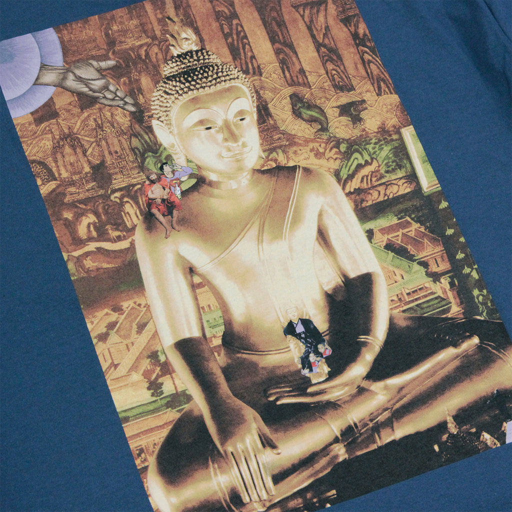 Fucking Awesome NAK Buddha Pocket T Shirt in Slate - Buddha detail
