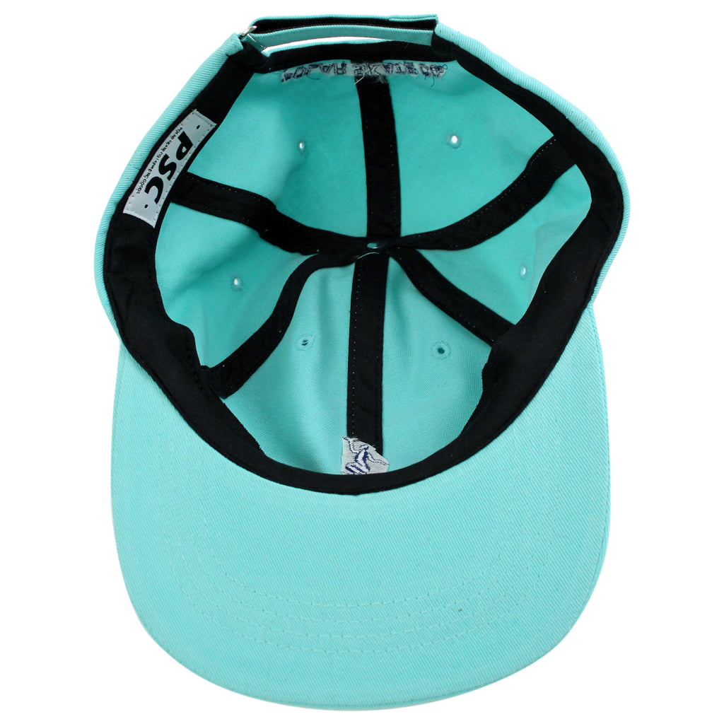 Polar Skate Co No Comply Cap in Pastel Green / Navy - Inside