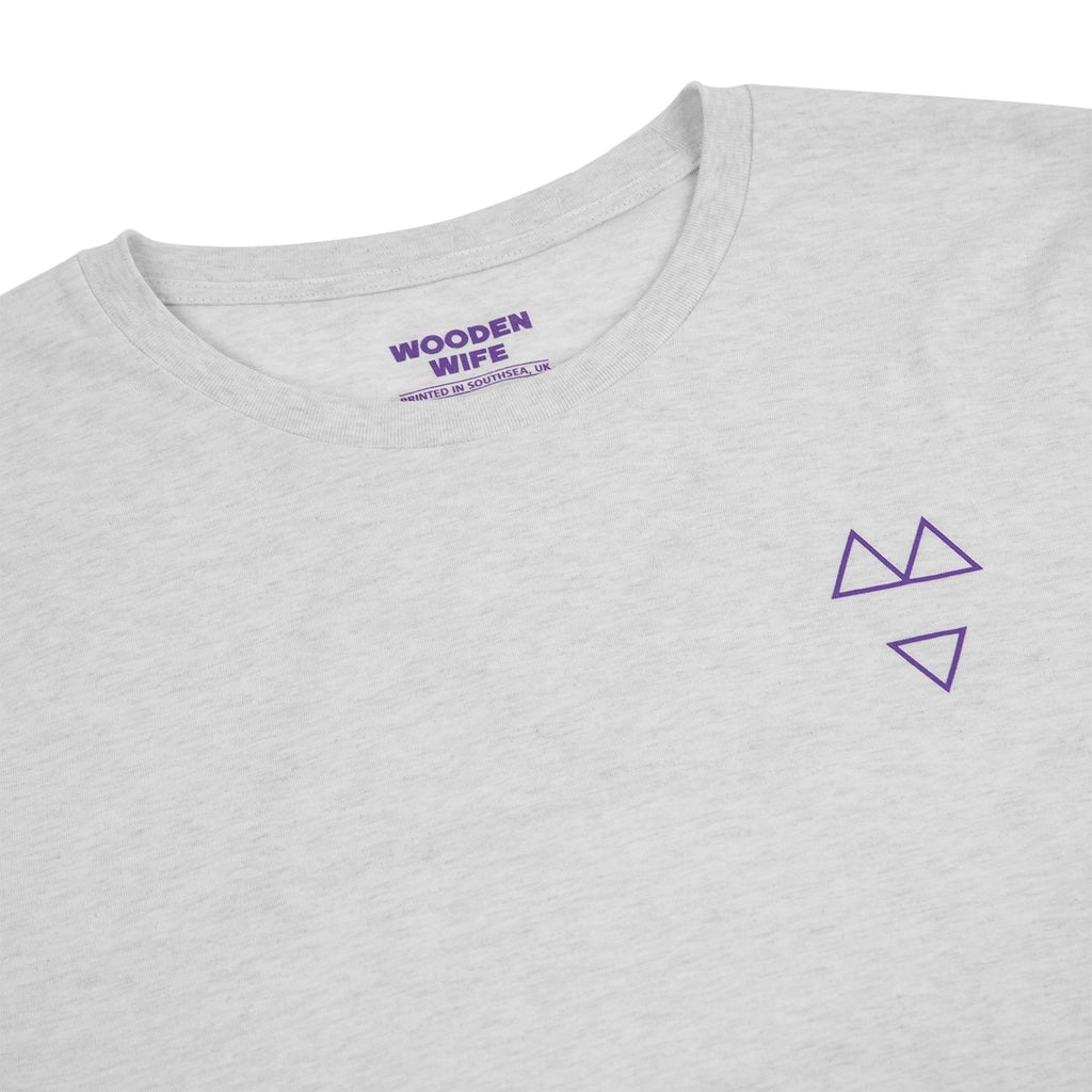Wooden Wife Skateboards Logo T Shirt in Ash Grey - Detail