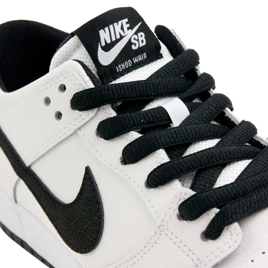 Nike SB Dunk Low Pro Ishod Wair Shoes in White / Black - White - Detail