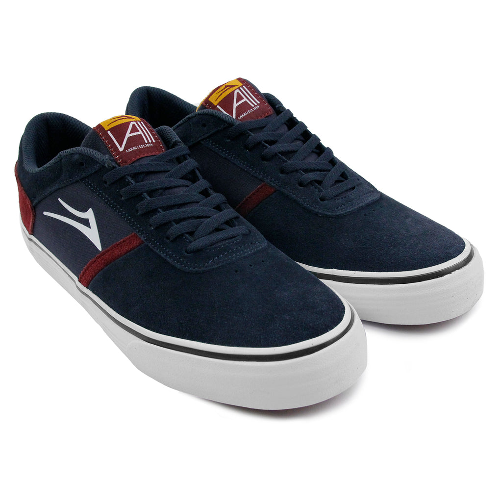 Lakai Vincent Shoes in Midnight Suede - Paired