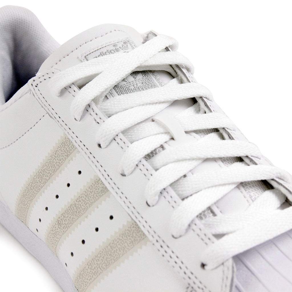 Adidas Skateboarding Superstar Vulc Shoes - White / White / Silver Metallic - Lace