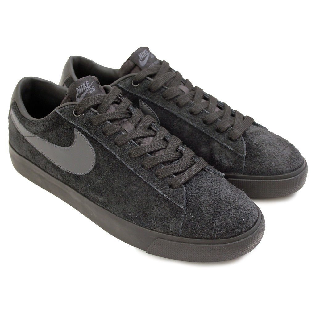 Nike SB Blazer Low Grant Taylor Shoes in Black / Anthracite - Paired