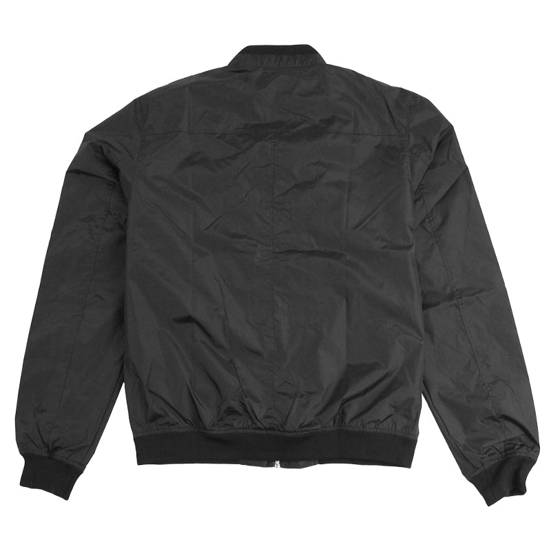 Polar Skate Co Fill Logo Chest Sporty Bomber in Black / Black - Back