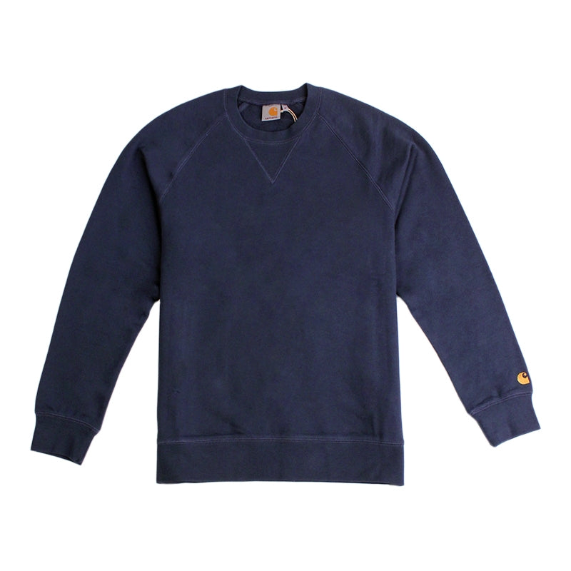 Carhartt WIP Chase Sweat in Blue Penny