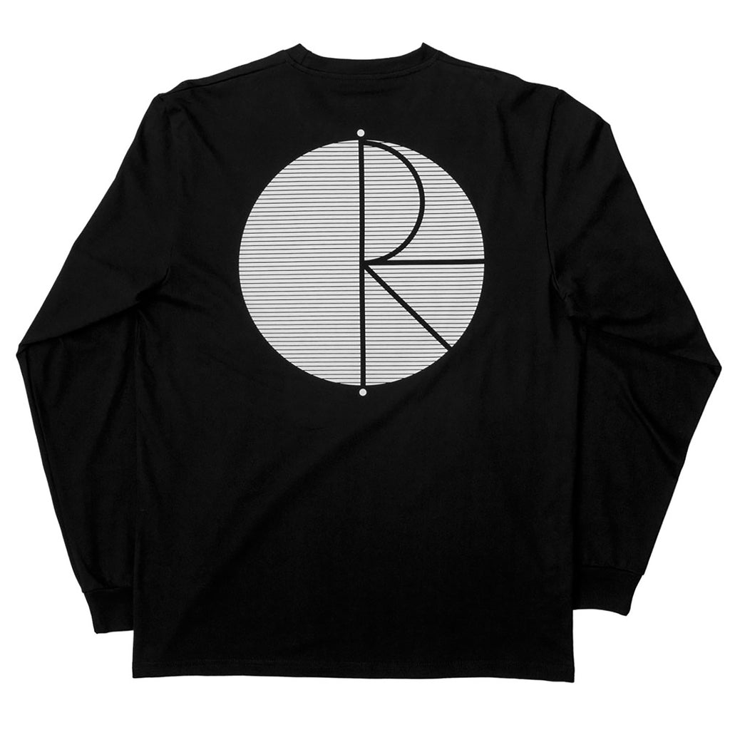 Polar Skate Co Fill Logo Behind The Curtains L/S T Shirt in Black / White