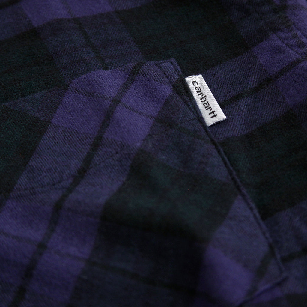 Carhartt L/S Norton Shirt in Blue / Parsley - Label