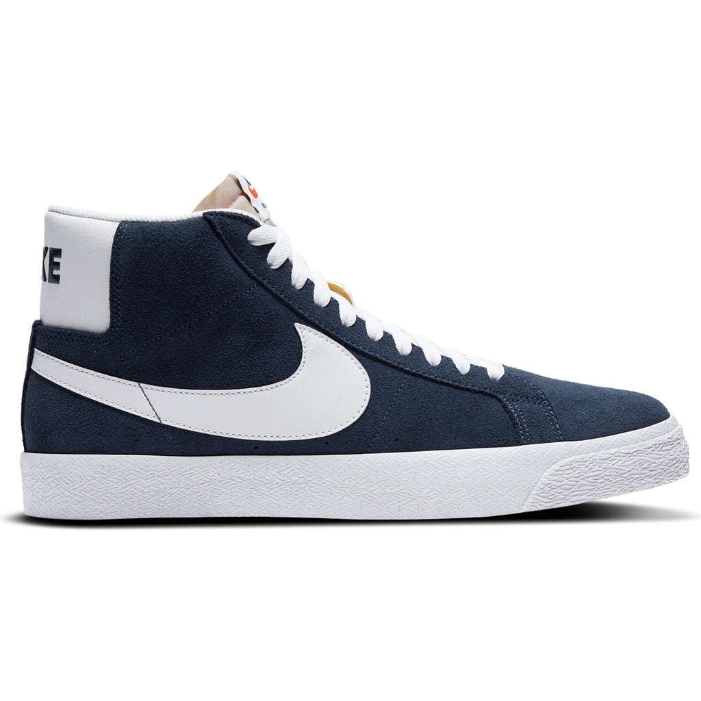 Nike SB Zoom Blazer Mid Shoes in Navy / White