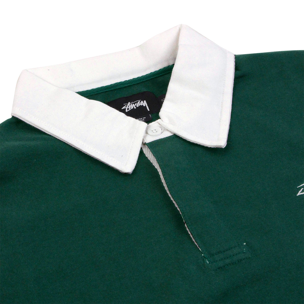 Stussy Pocket Rugby Shirt in Green - Detail