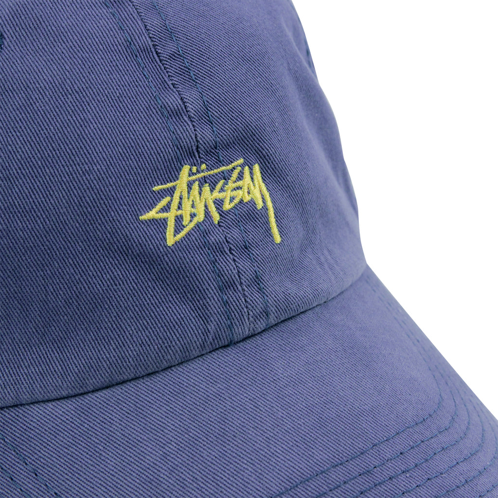 Stussy Low Profile Cap in Blue - Embroidery