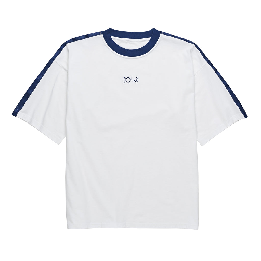 Polar Skate Co Tape Surf T Shirt in White / Navy