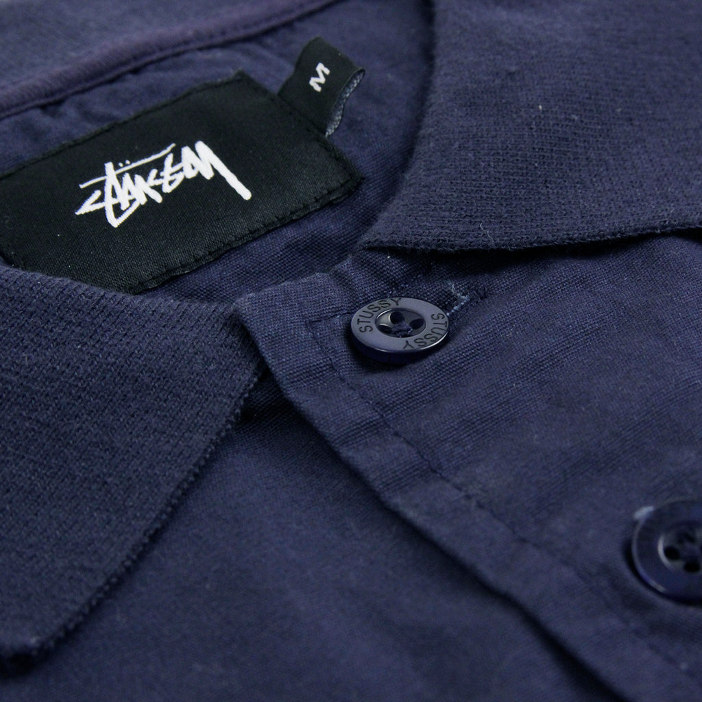 Stussy Pieced Pullover Sweatshirt in Navy - Buttons