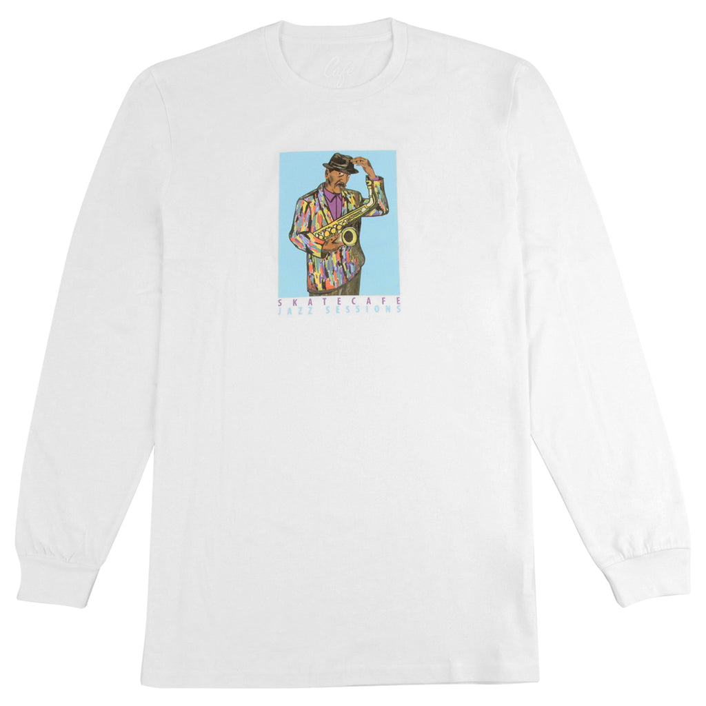 Skateboard Cafe Ornette Jacket L/S T Shirt in White