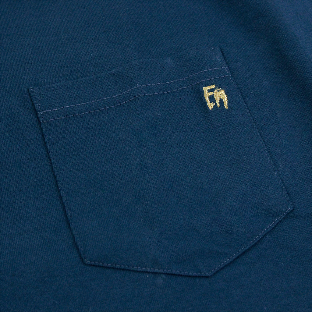 Fucking Awesome NAK Buddha Pocket T Shirt in Slate - Pocket