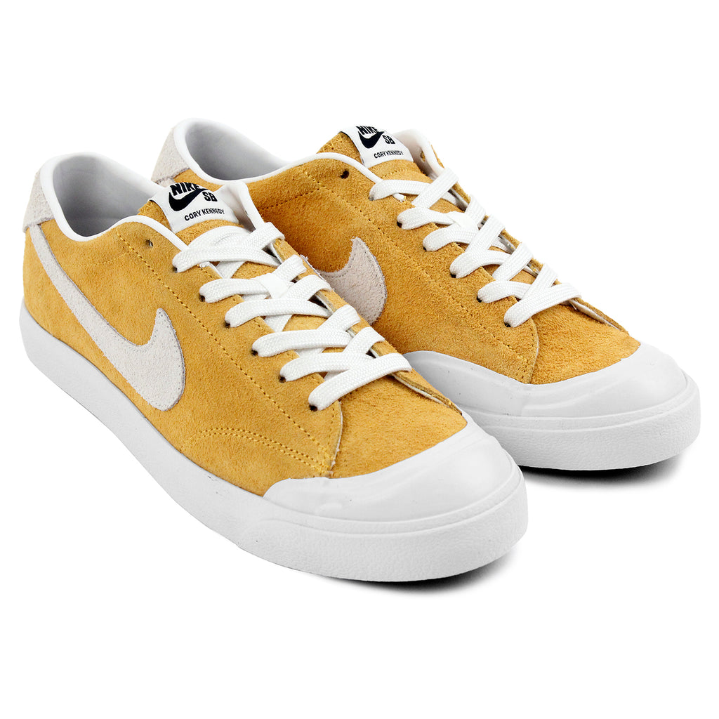 Nike SB Zoom All Court CK Shoes in University Gold / Summit White - Black - Paired