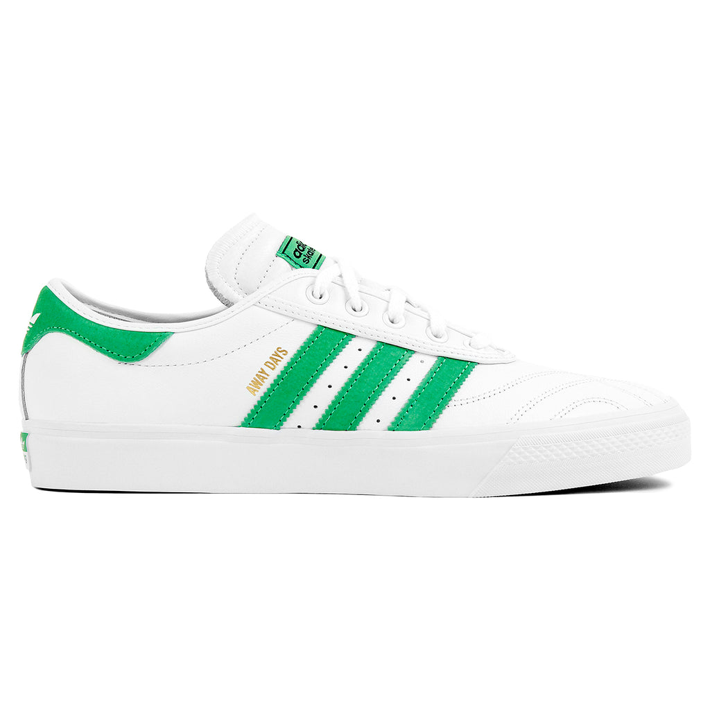 "Adidas Skateboarding Adi Ease Premiere ""Away Days"" Shoes in White / Lime / Gum"