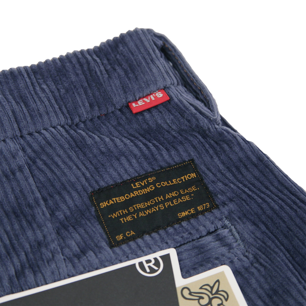Levis Skateboarding Pleated Trousers in Vintage Indigo - Back label