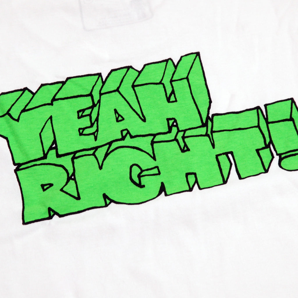 Girl Skateboards Yeah Right T Shirt in White - Back print