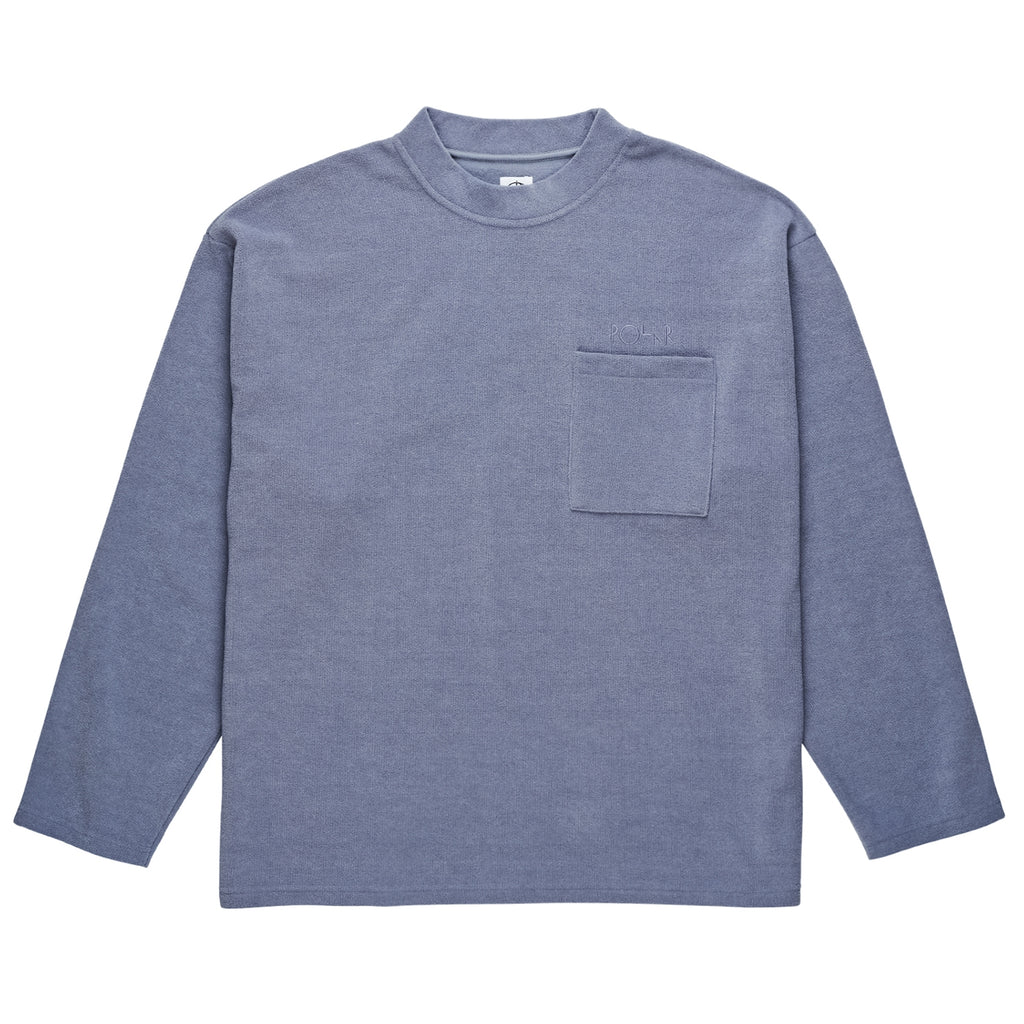 Polar Skate Co Terry Pullover in Sky Blue - Front