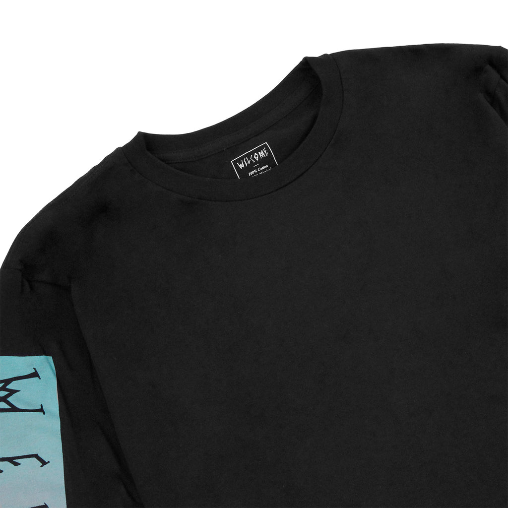 Welcome Skateboards Scrawl Bar L/S T Shirt in Black / Teal / Pink - Detail 2