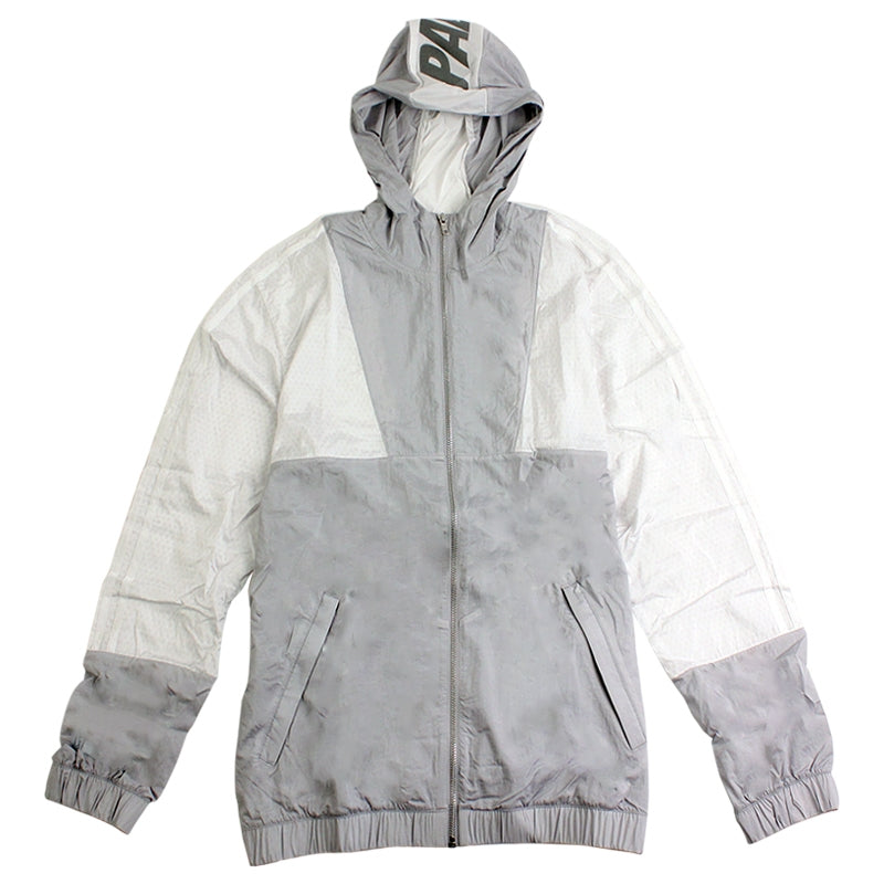 Palace x Adidas Packable Windbreaker 1 in Light Grey / Solid Grey / White