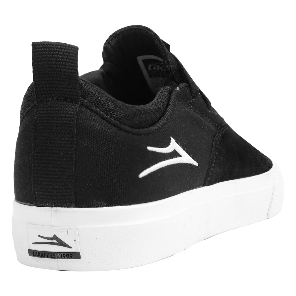 Lakai Riley 2 Skate Shoes in Black Suede - Heel
