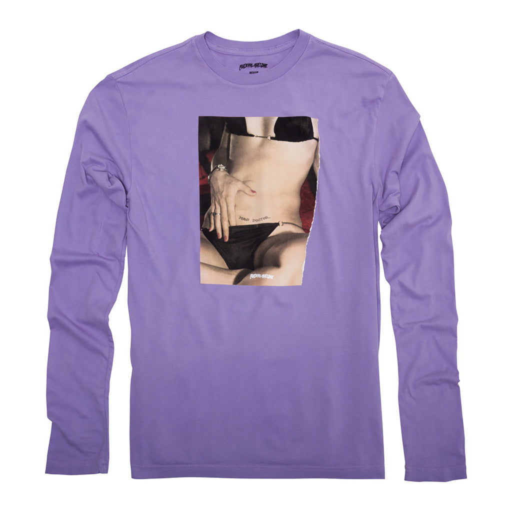 Fucking Awesome Mad Doctor L/S T Shirt in Light Purple