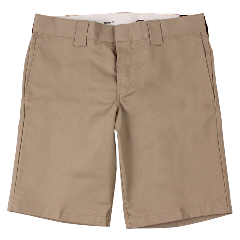 Dickies 273 Slim Fit Work Shorts in Khaki - Profile