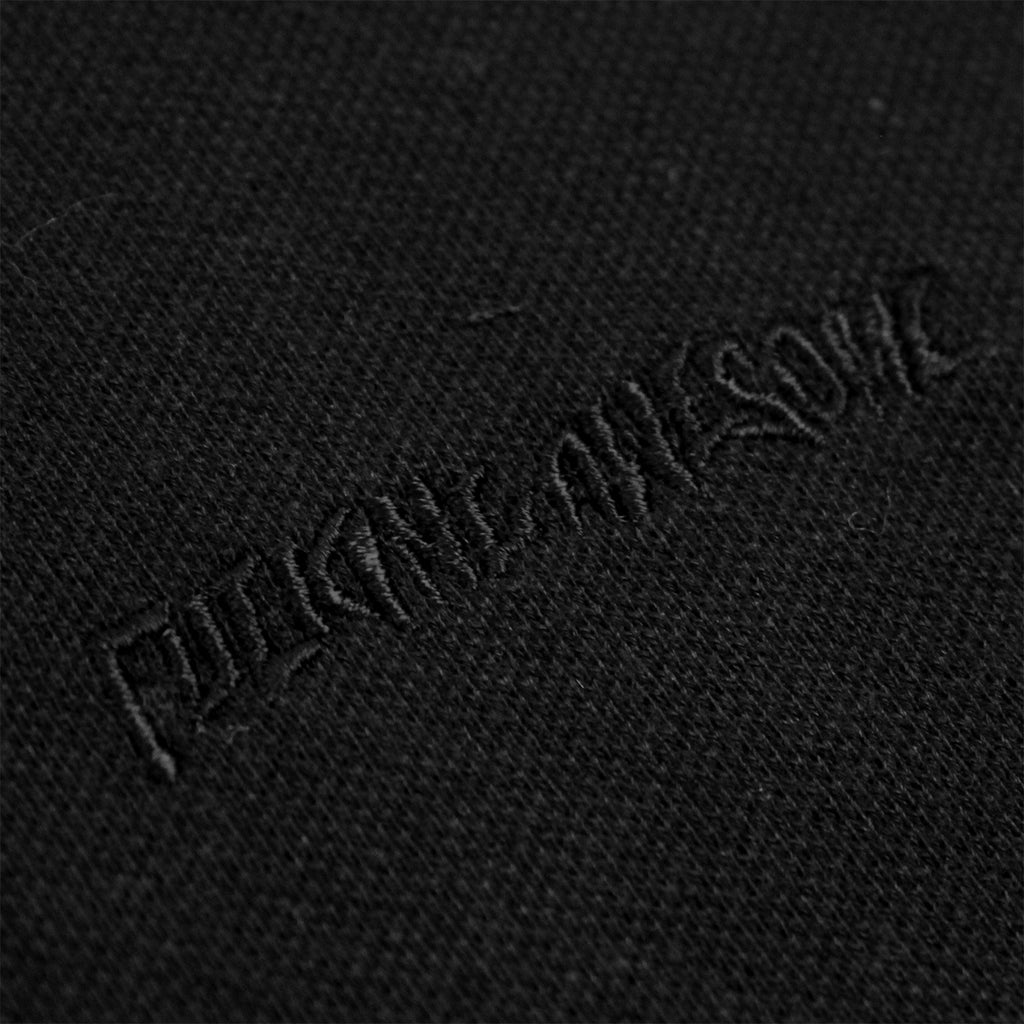 Fucking Awesome Logo Polo Shirt in Black - Embroidery
