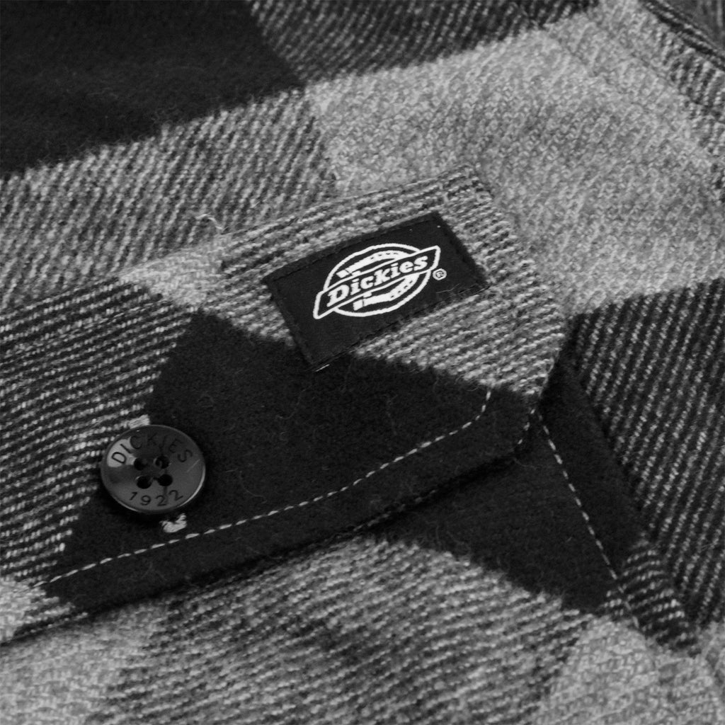 Dickies Sacramento Shirt in Grey Melange - Label